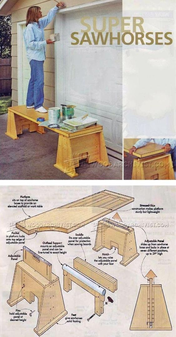 Super Sawhorses Plans - Workshop Solutions Plans, Tips and Tricks | WoodArchivist.com