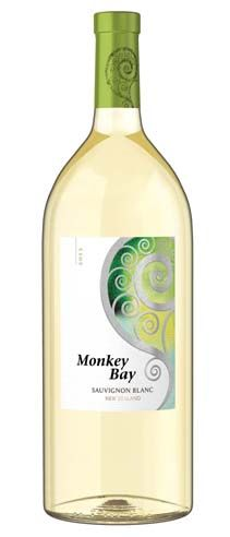 """Monkey Bay Sauvignon Blanc, Marlborough, New Zealand: """"A fresh, lively approachable wine overflowing with grapefruit, lemon and passion fruit and infused with a delicate, herbaceous character. Great on its own or pair it with chicken, sea bass or shell fish."""" – Winemaker's notes"""