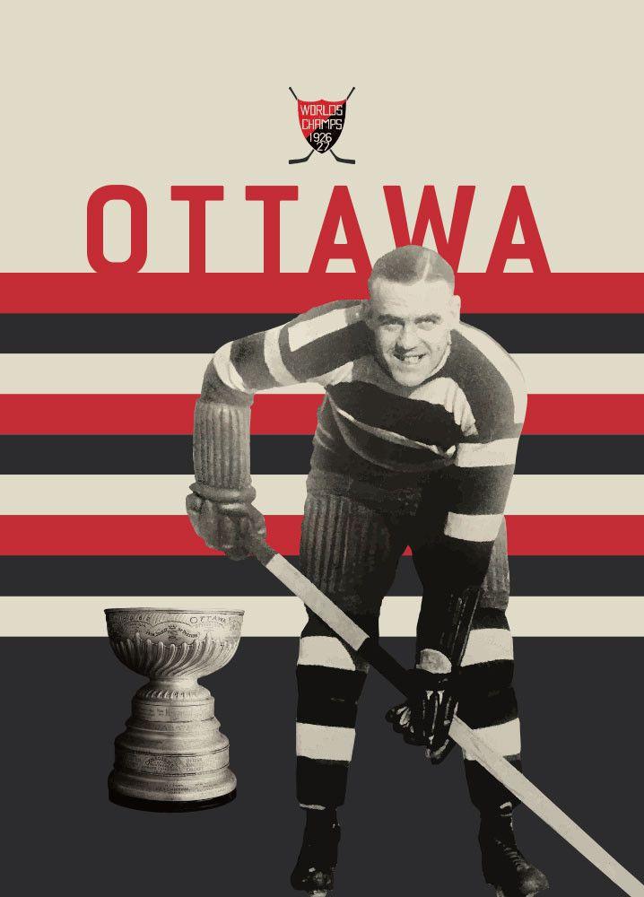 Ottawa Senators Vintage 1926-27 Hockey Art Poster from ManMade Art