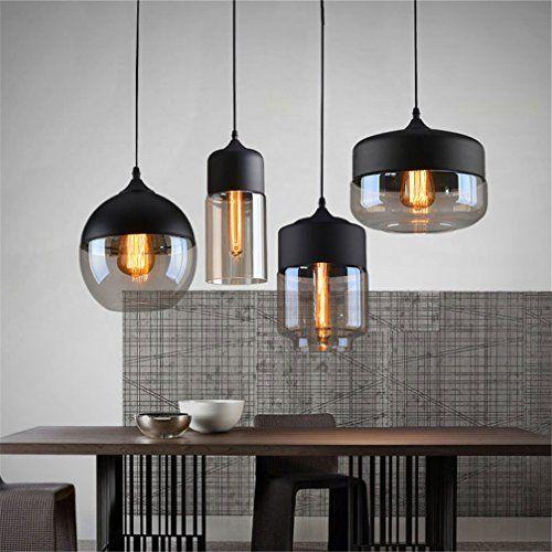 Design Lighting Ideas  : Ferand Modernes Glas-Leuchter-Deckenleuchte Pendelleuchte Coffee Bar Deco Fixture Schwarz Wohnung: Amazon.de: Beleuchtung