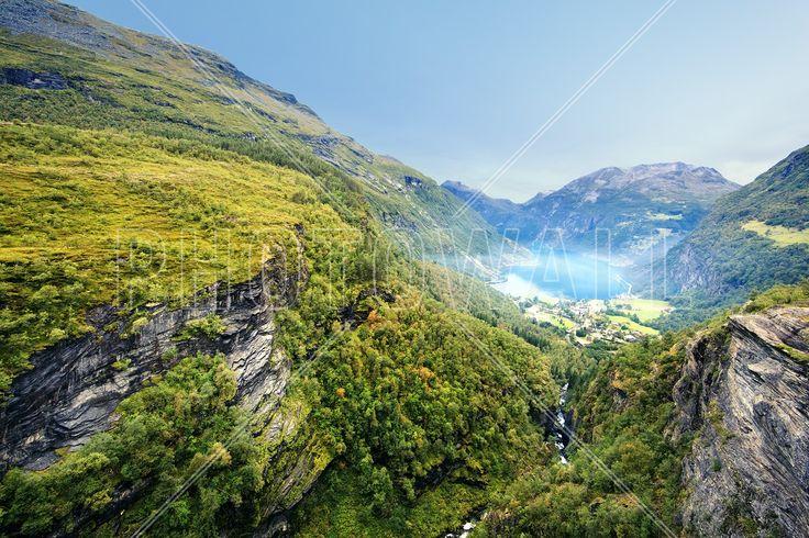 Cliffs around Geirangerfjord, Norway - Fototapety - Photowall