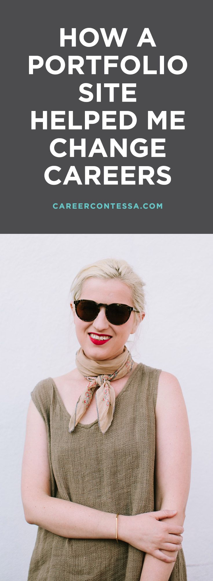 How I used a portfolio siite to change industries and careers. One writer tells how she found her dream job by creating an online portfolio. Sponsored by Squarespace. | CareerContessa.com