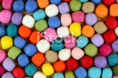 Felt Balls Texture Royalty Free Stock Photo