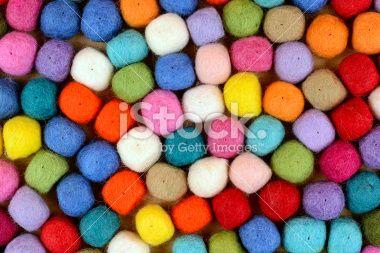 Felt Balls Texture Royalty Free Stock Photo