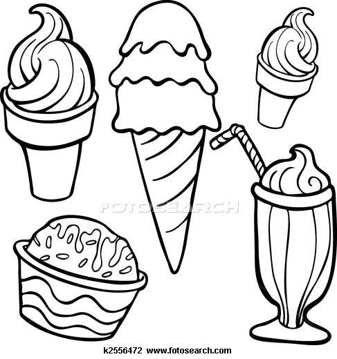 Line Art Ice Cream : Best verano images on pinterest summer crafts