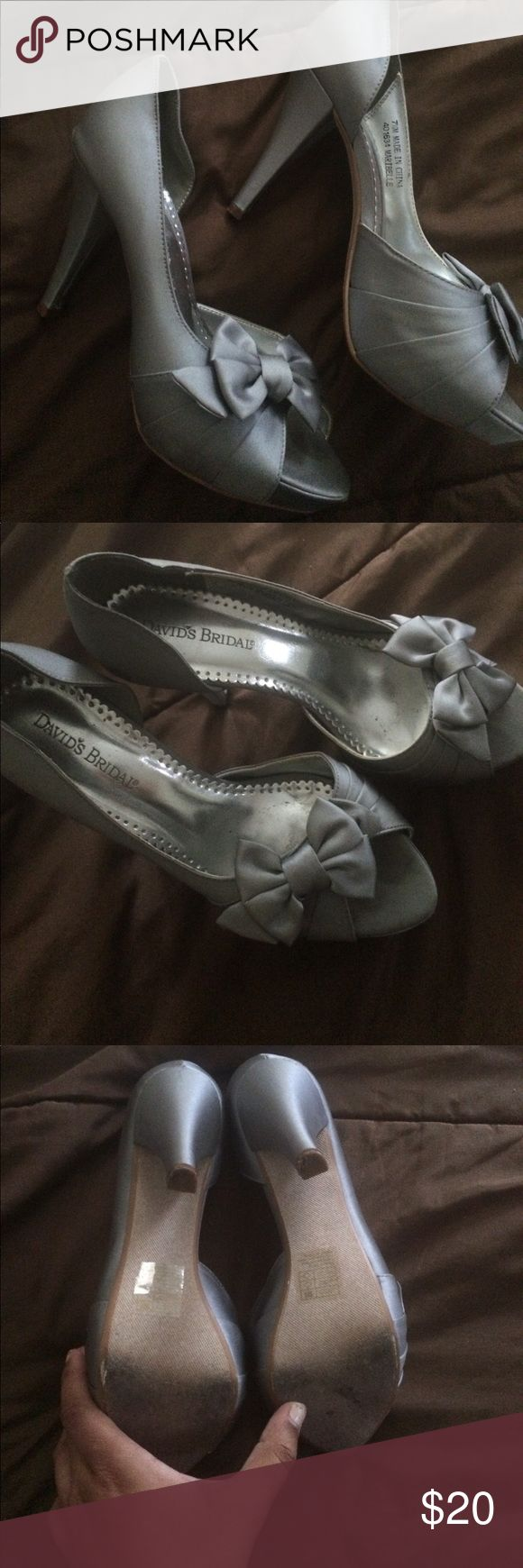 David's Bridal Bridesmaid shoes David's Bridal Bridesmad shoes. Worn once. In excellent condition. David's Bridal Shoes Heels