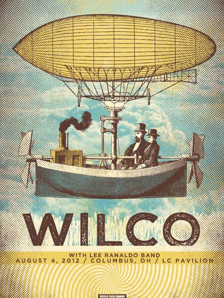 Image of Wilco - Columbus, OH: Picture-Black Posters, Wilco Posters, Gig Posters, Music Posters, Wilco Bands Posters, Music Festivals Posters, Music Gig, Concerts Posters, Art Music