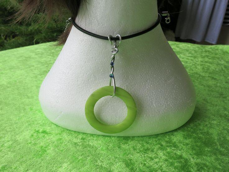 Halskette (Kautschuk) Circolo verde von der woll-loewe auf DaWanda.com