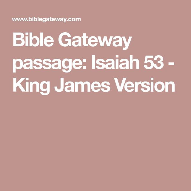 Bible Gateway passage: Isaiah 53 - King James Version
