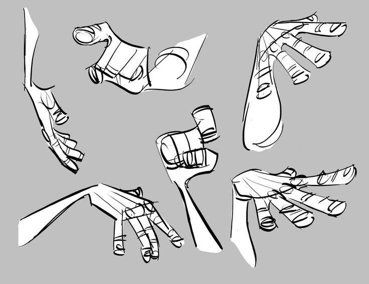 Agrupar los dedos - Como dibujar las manos