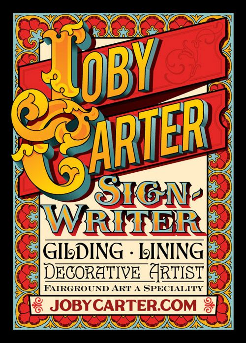 21st Century Victorian Shows Contemporary Fairground Sign Writing | Joby Carter