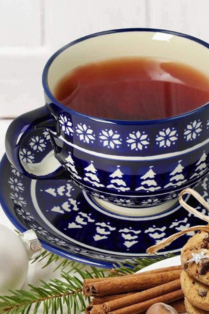 Christmas big cup  Gift Bolesławiec pottery