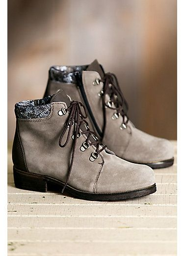 Women's Caline Taupe Wool-Lined Waterproof Italian Suede Ankle Boots