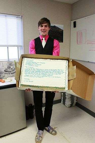 Baked Resignation Letters - Piping Your Two Weeks' Notice in Royal Icing. Hilarious! Keep THAT in the file! Hmph!