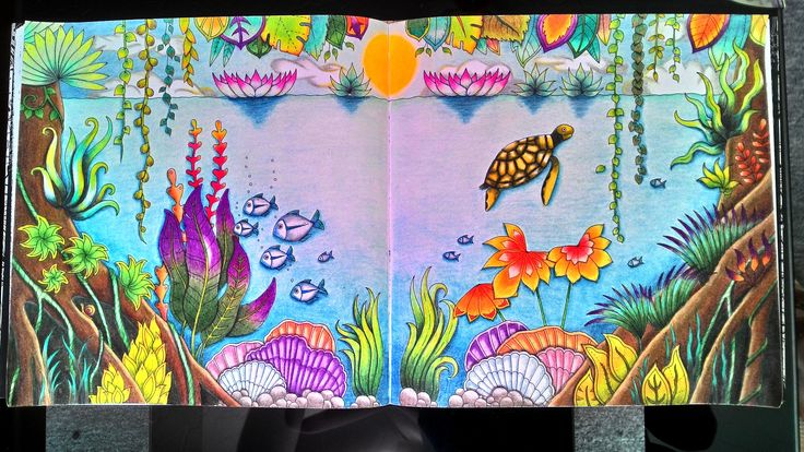 Magical Jungle Johanna basford Prismacolor