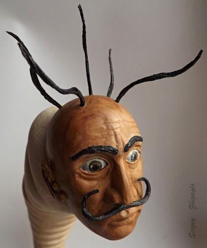 """Статуэтки ручной работы. Ярмарка Мастеров - ручная работа. Купить Арт кукла (дерево) """"Гусеница Сальвадор"""". Handmade. Дали, скульптуры"""