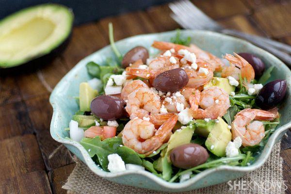 Shrimp and Avocado Salad - under 150 calories