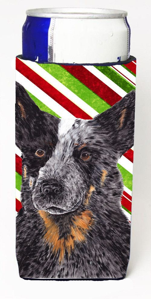Australian Cattle Dog Candy Cane Holiday Christmas Ultra Beverage Insulators for slim cans SC9356MUK
