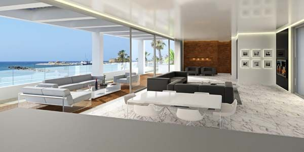 Modern Penthouse : Modern beachfront penthouses in Paphos, Cyprus  Contemporary Houses ...