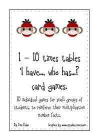 Good Morning Mrs. Rubie: 'Times Tables' Card Games Freebie - Update...