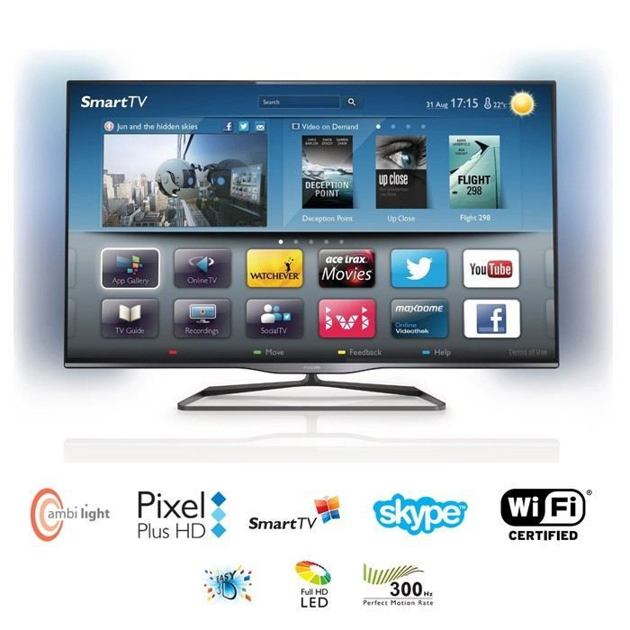 Tv led 3D Cdiscount,, achat pas cher PHILIPS 47PFL5008H TV LED 3D Smart TV Ambilight prix promo Cdiscount 918.99 € TTC