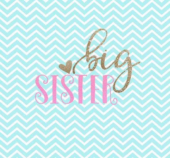 Big Sister SVG - Big Sister - SVG Clipart -  - Svg - Dxf - Png - Vector