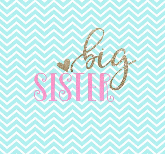 Big Sister SVG Big Sister SVG Clipart by TheDrunkenMermaidsCo