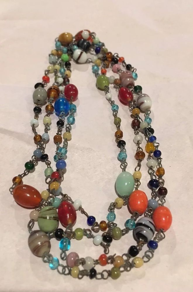 144 Glass Beads X1423 Vintage