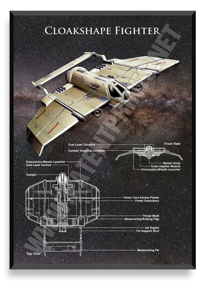 Cloakshape Fighter, Star Wars Poster