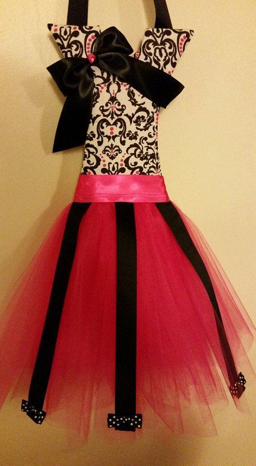 fuchsia ballerina tutu bow holder by PixieDustEnchantment on Etsy