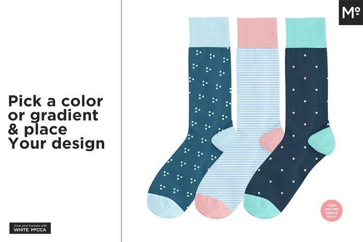 Download Sock Design Templates Mockup 10 Design Mockup Sock Socksdesign Templates Designer Socks Cool Socks Template Design