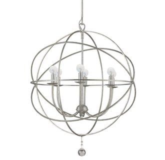 Solaris Bronze Orb Chandelier from Crystrorama 9226-EB                           | Lighting Connection