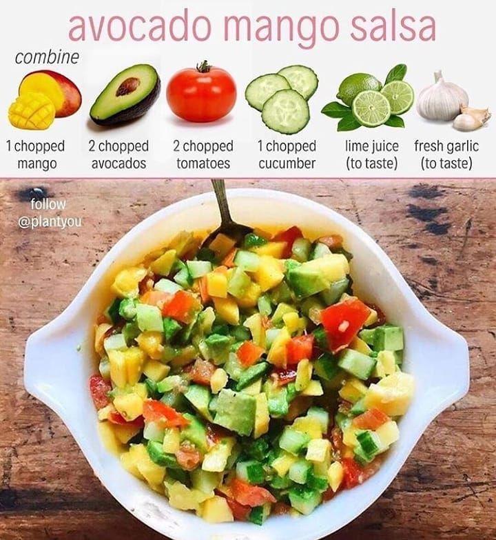 Ini Dia Resep Aslinya Dari Plantyou Dimakan Sama Tortilla Tapi Saya Makan Sama Yang Saya Punya Aja Di Quick Vegan Meals Easy Salsa Recipe Whole Food Recipes