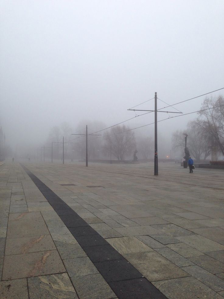 A foggy morning, in Oslo town