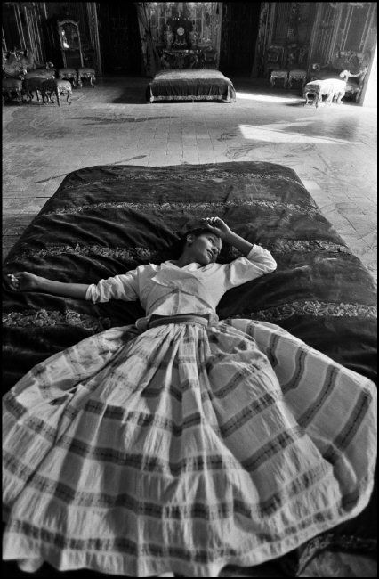 Italy, Sicily, Palermo, Ganci Palace, fashion story with Dutch model Marpessa for D&G.  PH: Ferdinando Scianna