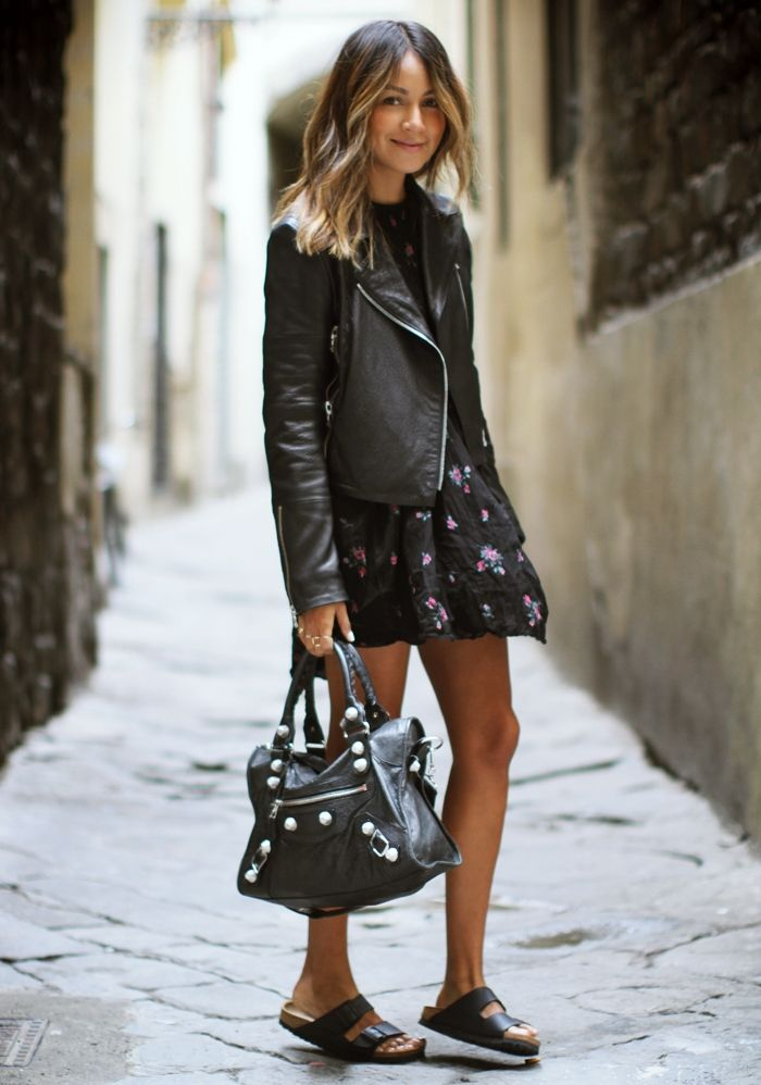Sincerely Jules in J BRAND Aiah Leather Jacket in Black.