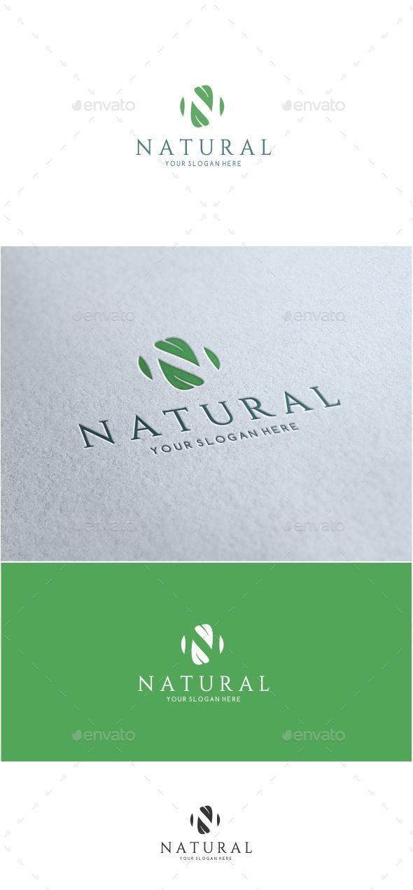 Natural Letter N Logo http://graphicriver.net/item/-natural-letter-n-logo-/15890915