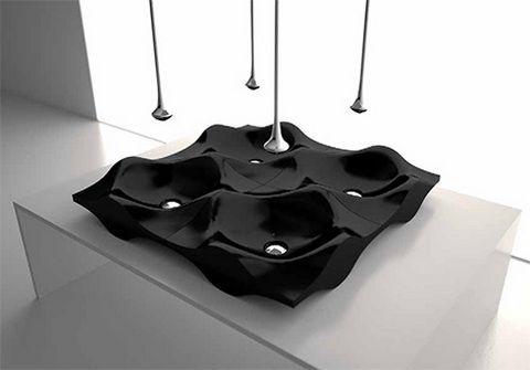 Aranżacja łazienki : umywalki