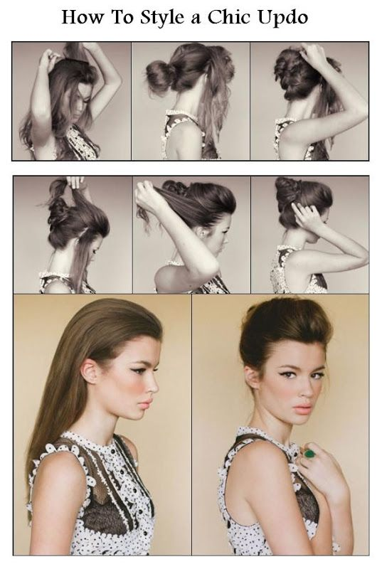 Chic updo idea.