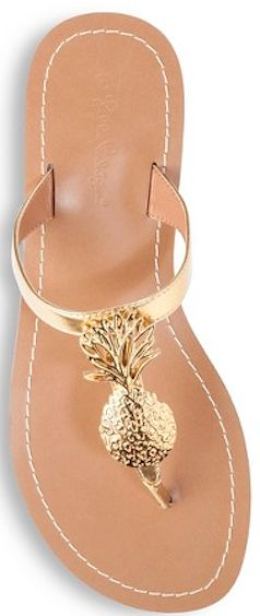 Gold pineapple flats