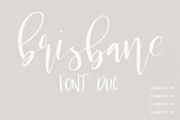 Brisbane   A Scripty Font Duo by Jen Wagner Co on @creativemarket