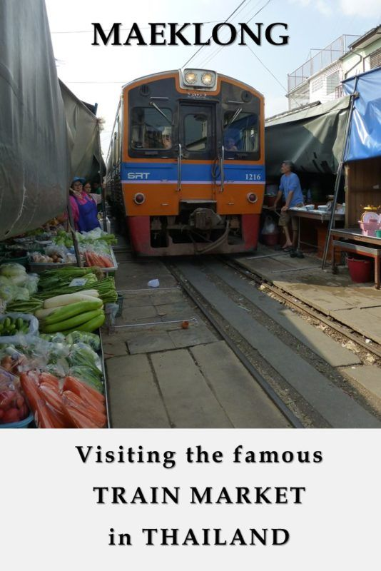 Maeklong Train Market - Bangkok, Thailand An off-the-beaten site near Bangkok.  How to get there and what to see?  The train goes through the marketplace couple of times a day, while the sellers have to move their stalls away to let the train passes.