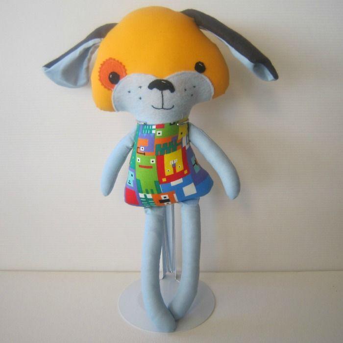 Blue Puppy Dog Softie Doll | Chelle Belle | madeit.com.au