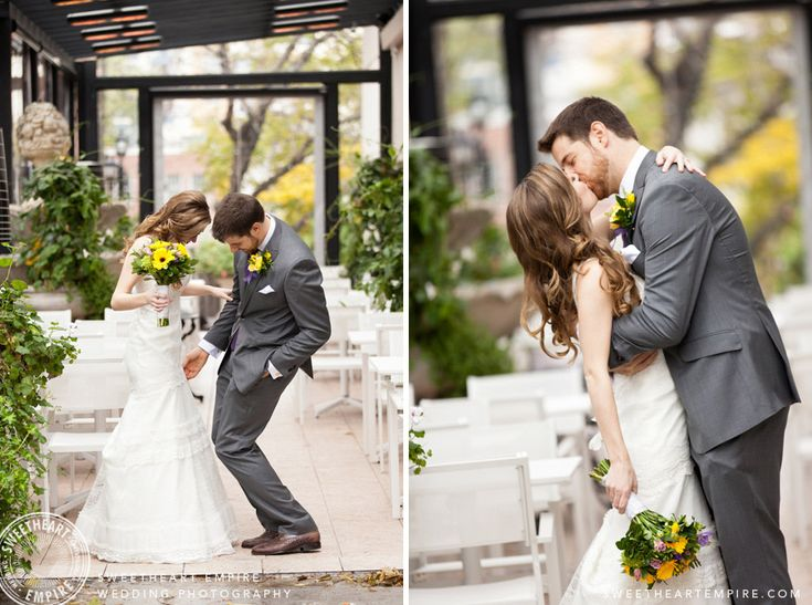 Enoch Turner Schoolhouse Wedding - The first kiss after the first look. #sweetheartempirephotography