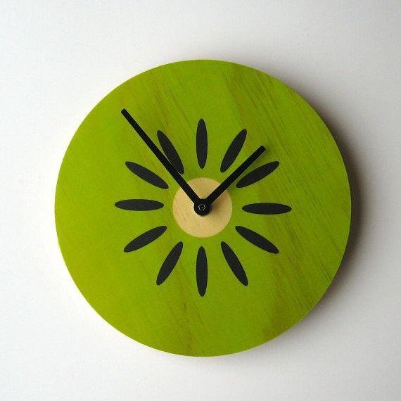 Fruity Wall Clock, Kiwi by Objectify eclectic clocks
