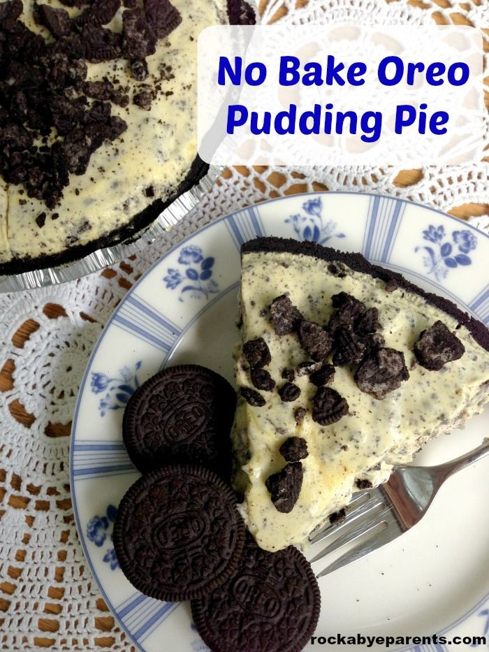 Sie werden dieses No Bake Oreo Pudding Pie lieben! Dieses einfache Rezept ohne Backen ist immer …   – Parenting Pointers