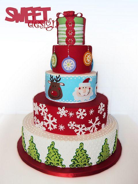 Cricut cake - Christmas
