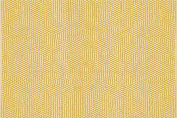 Kat Textured Dainty Diamond Rug - 200 x 290cm - Yellow