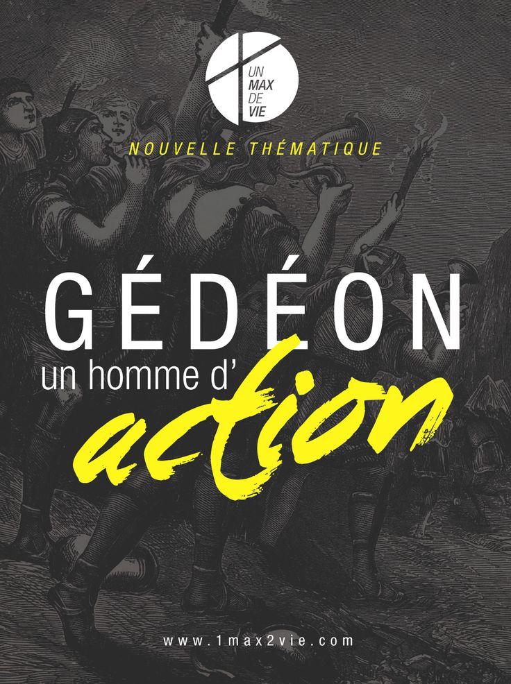 POSTER PRINT / EGLISE EVANGELIQUE 1MAX2VIE / NOUVELLE THÉMATIQUE / GÉDÉON, UN HOMME D'ACTION / www.1max2vie.com / Artwork by www.johndesign.net