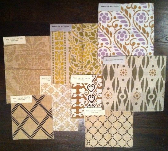 Kamo Samples mixed with Pintura Samples on the Tracery Interiors Blog. LOVE!
